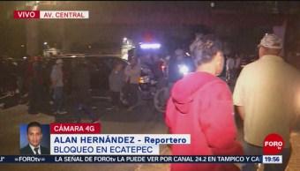 Persiste Bloqueo Ecatepec Por Falta De Agua