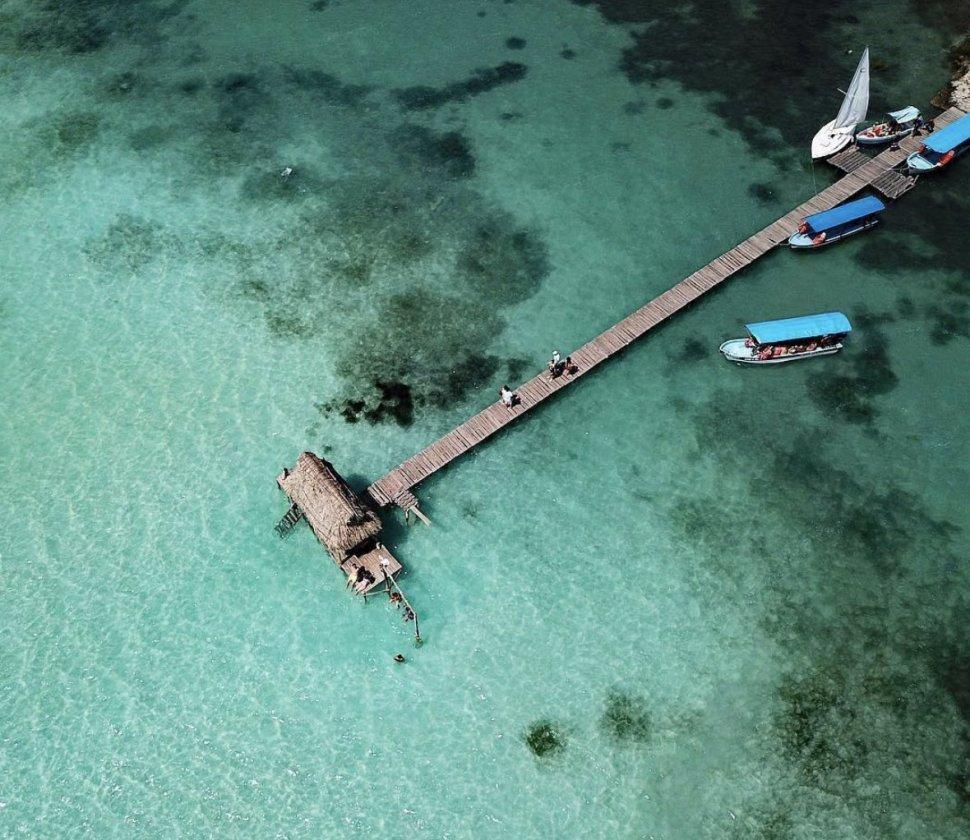 Playa Bacalar, en Quintana Roo
