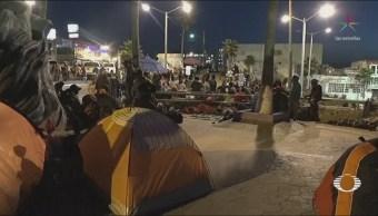 Pobladores Tijuana Protestan Llegada De Migrantes