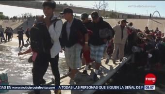 Pocos miembros de caravana migrante en Tijuana quieren ser repatriados