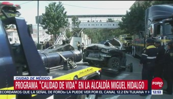 Pretenden retirar mil autos chatarra en alcaldía Miguel Hidalgo