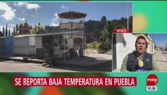 Prevalece el frío en la sierra norte y nororiental de Puebla