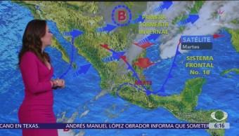 Prevén descenso de temperaturas en gran parte de México
