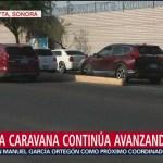 Primera caravana de migrantes continúa avanzando en Sonora