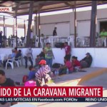 Primera caravana migrante llega a Escuinapa, Sinaloa