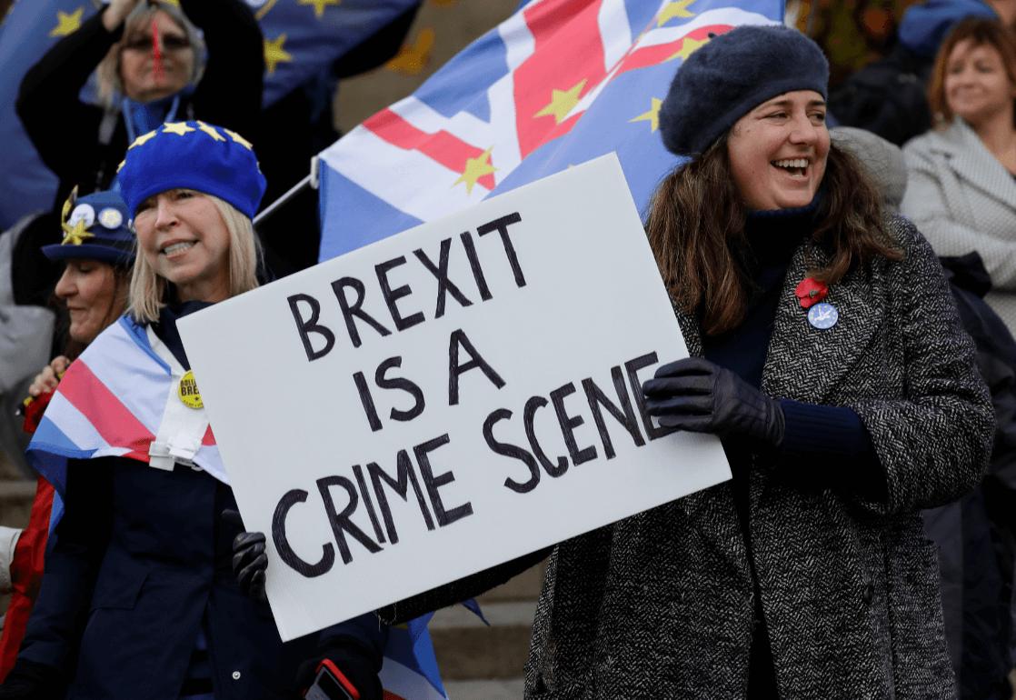 Protestas contra el Brexit en Londres, Inglaterra. (AP)