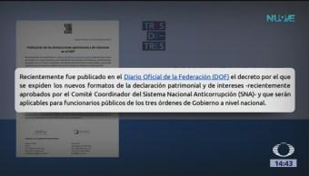 Publican nuevos formatos de declaración patrimonial
