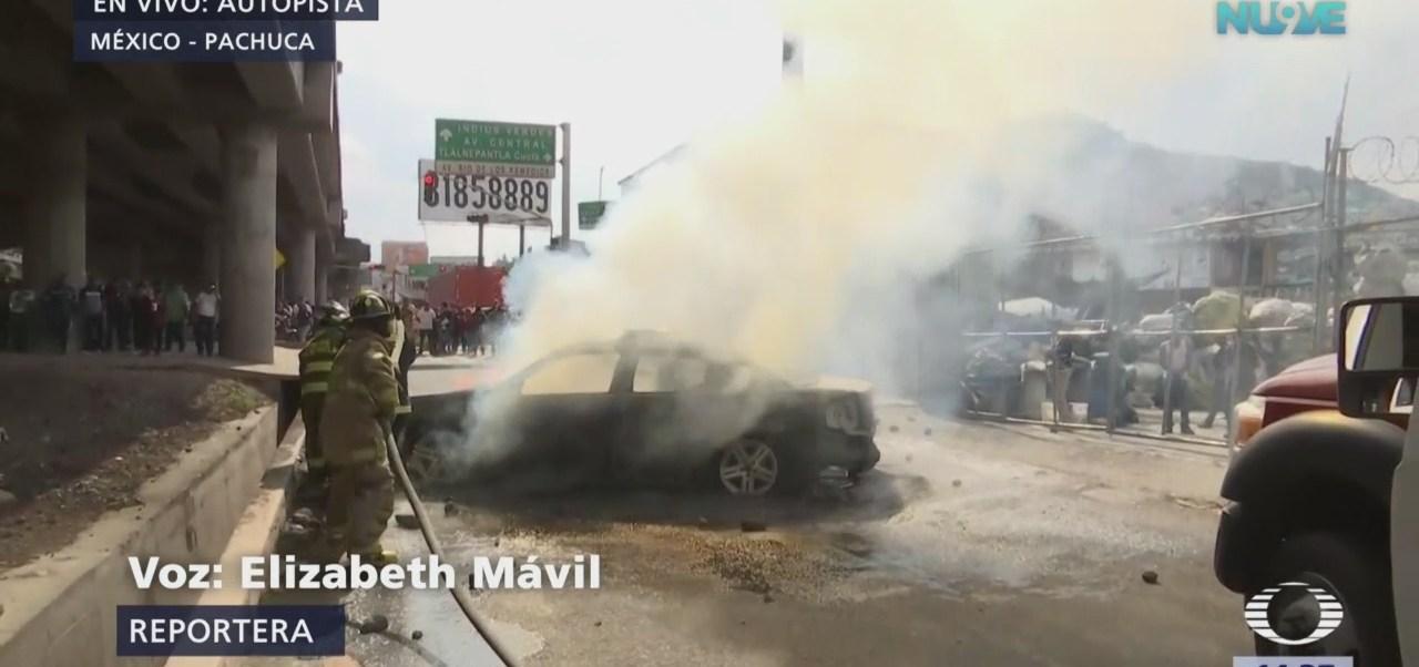 Queman otra patrulla en la México-Pachuca