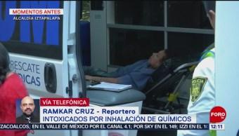 Reportan cinco intoxicados por inhalación de químicos en Iztapalapa