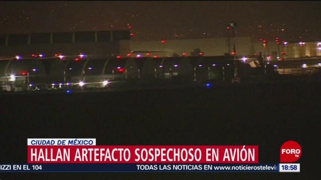 Reportan supuesta amenaza de bomba en avión en el AICM