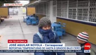 Reportan Temperaturas A 6 Grados Bajo Cero Slp San Luis Potosí