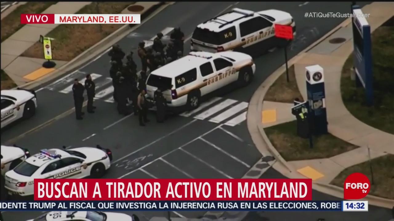 Reportan tiroteo en Maryland, Estados Unidos