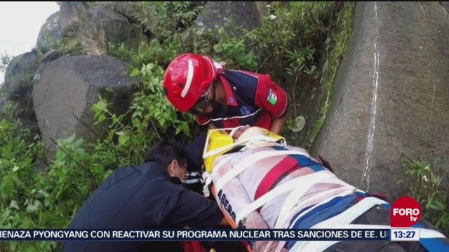 Rescatan Hombre Que Cayó A Un Barranco Estado De México