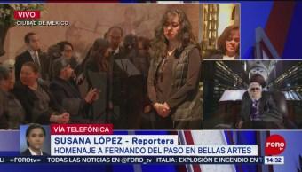 Restos De Fernando Del Paso Reciben Homenaje Bellas Artes Fernando Del Paso Palacio De Bellas Artes Acuden Su Esposa Y Sus Hijos De Fernando Del Paso