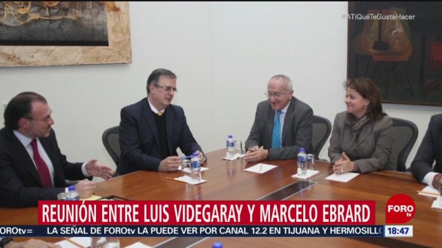 Reunión entre Videgaray y Ebrard
