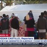 Revisan salud de migrantes en el albergue de la Magdalena Mixhuca