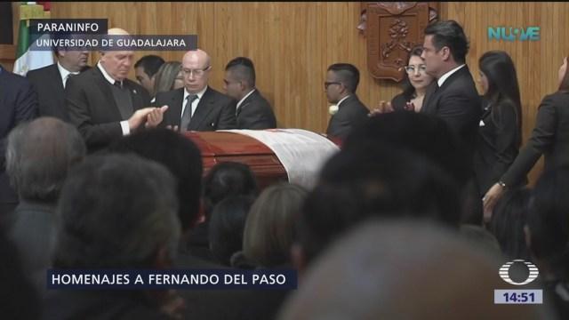Rinden homenaje a Fernando del Paso en Guadalajara