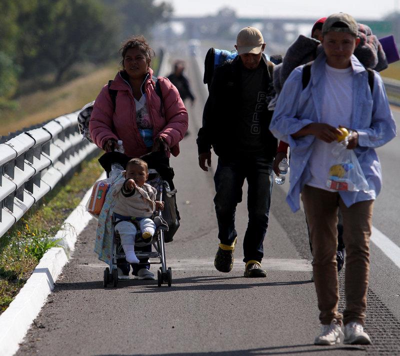 segunda caravana migrantes veracruz puebla migracion