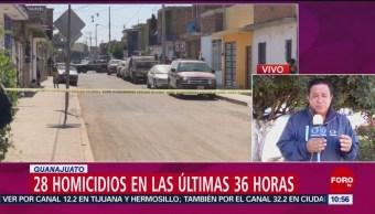 Suman 28 muertos en Guanajuato