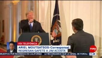 Expresan Solidaridad Reportero Vetado Por Trump Periodistas Critican La Decisión De La Casa Blanca Periodista Jim Acosta