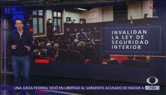 SCJN declara inconstitucional Ley de Seguridad Interior