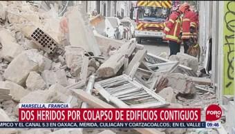 Se derrumban dos edificios en Marsella, Francia