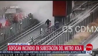 Se incendia de nuevo instalación en Línea 2 del Metro