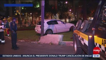 Se registran accidentes de autos deportivos en el Valle de México