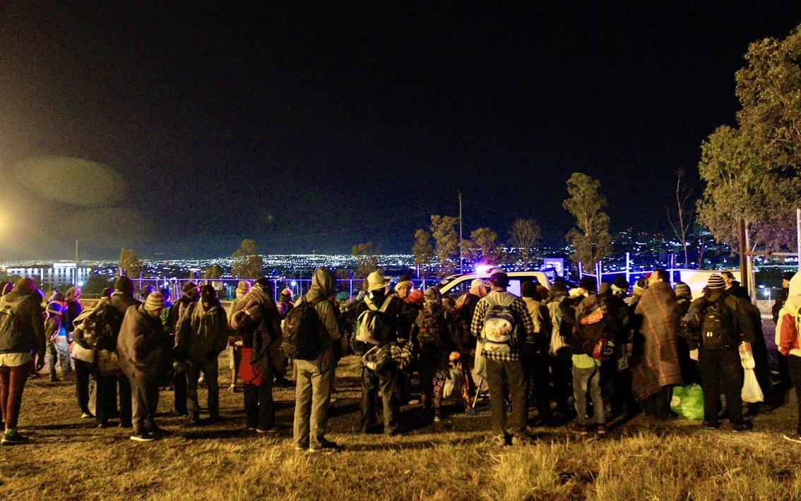 Segunda caravana migrante llega a Querétaro