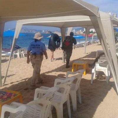 Refuerzan seguridad en el puerto de Acapulco por fin de semana largo