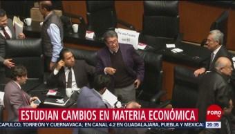 Senadores Secretario Hacienda Estudian Cambios Materia Económica