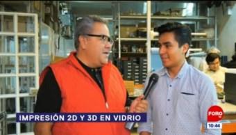 Sepa más de la impresión 2D y 3D en vidrio