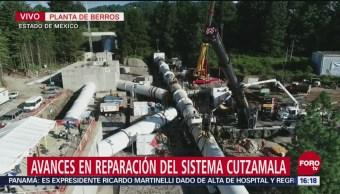 Siguen trabajos de mantenimiento en el Sistema Cutzamala