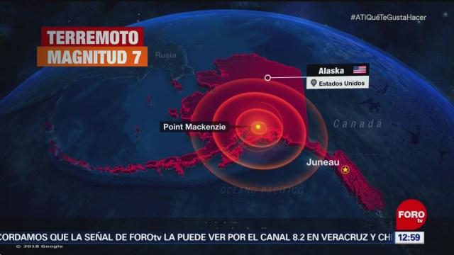 Sismo de magnitud 7.0 sacude Alaska