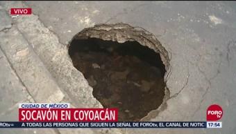 Socavón en Tres Cruces, Coyoacán