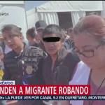Sorprenden a migrante robando y tratan de lincharlo