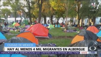 Suman 4 mil migrantes en ciudad deportiva Magdalena Mixhuca de CDMX