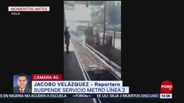 Suspenden otra vez el servicio de la Línea 2 del Metro CDMX