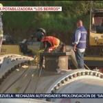 Técnicos hacen pruebas en las reparaciones del Sistema Cutzamala