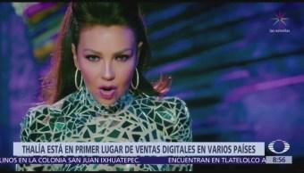 Thalía logra primer lugar de ventas digitales y físicas con 'Valiente'