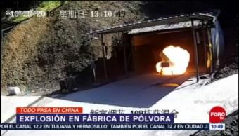 Todo sucede en China: Graban explosión en fábrica de fuegos artificiales