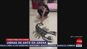 Todo sucede en China: Obras 3D en arena
