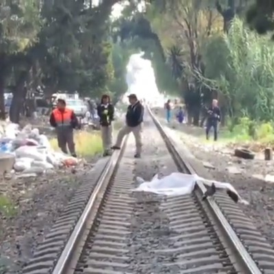 Tren mata a hombre luego de arrollarlo en alcaldía Gustavo A. Madero