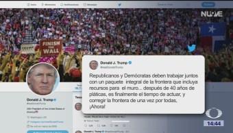 Trump Pide Aprobar Recursos Para Construcción De Muro, Presidente Donald Trump, Legisladores Demócratas, Republicanos