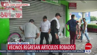 Vecinos de San Juan Ixhuatepec devuelven productos