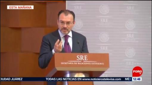 Videgaray llama a analizar consecuencias de la inteligencia artificial