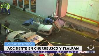 2 muertos por accidente de tránsito en Churubusco y Tlalpan, CDMX