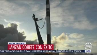 Lanzan cohete con éxito en Nueva Zelanda