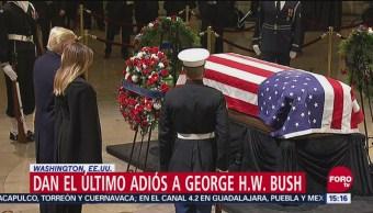 Dan el último adiós a George H.W. Bush en El Capitolio