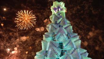 Aguascalientes Récord Guinness árbol Navidad hecho PET